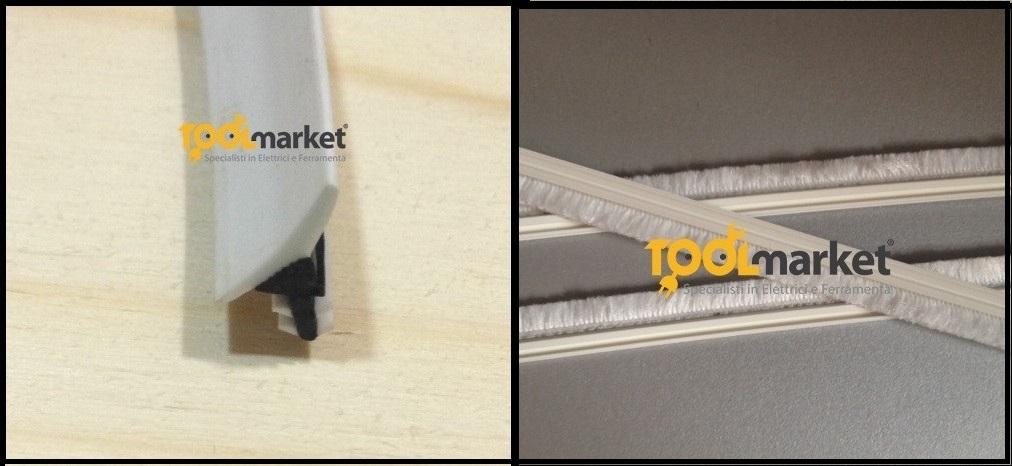 set guarnizione e spazzolini per kit stipite scorrevole