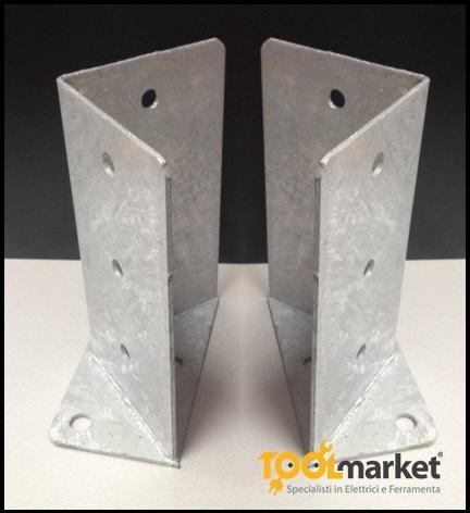Staffe base pilastro regolabile 100