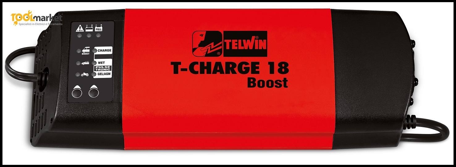 Caricabatterie T-Charge18Boost per batterie gel
