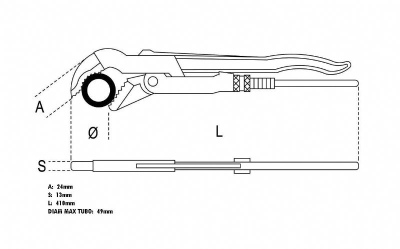 Giratubi svedese 410mm