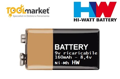 Batteria 9v ricaricabile