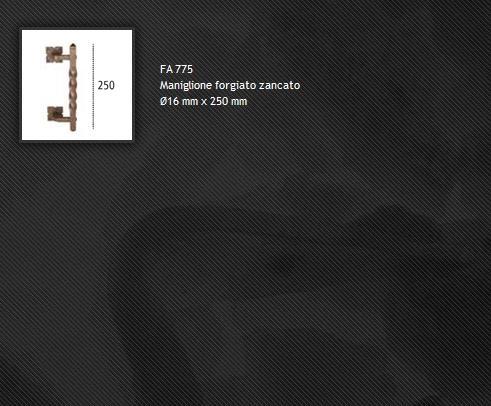 Maniglione FA775 ferro forgiato