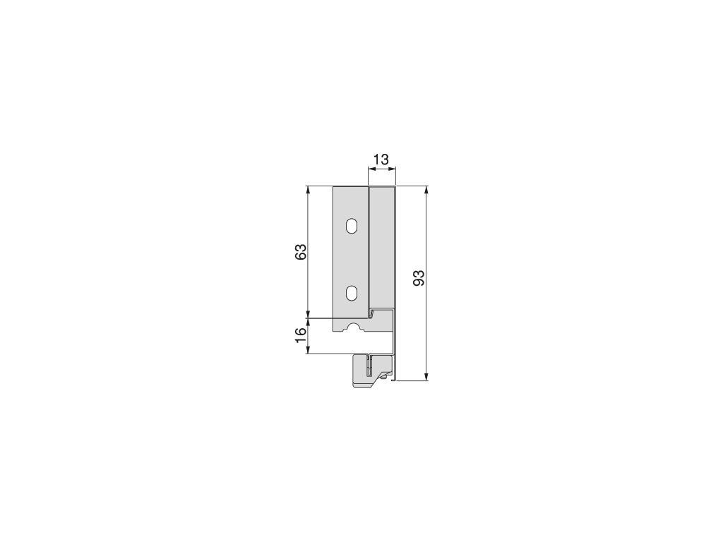 Cassetto Vertex grigio antracite altezza 93mm - EMUCA