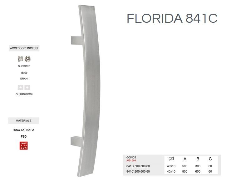 Maniglione modello Florida 841c in acciaio inox da 500mm