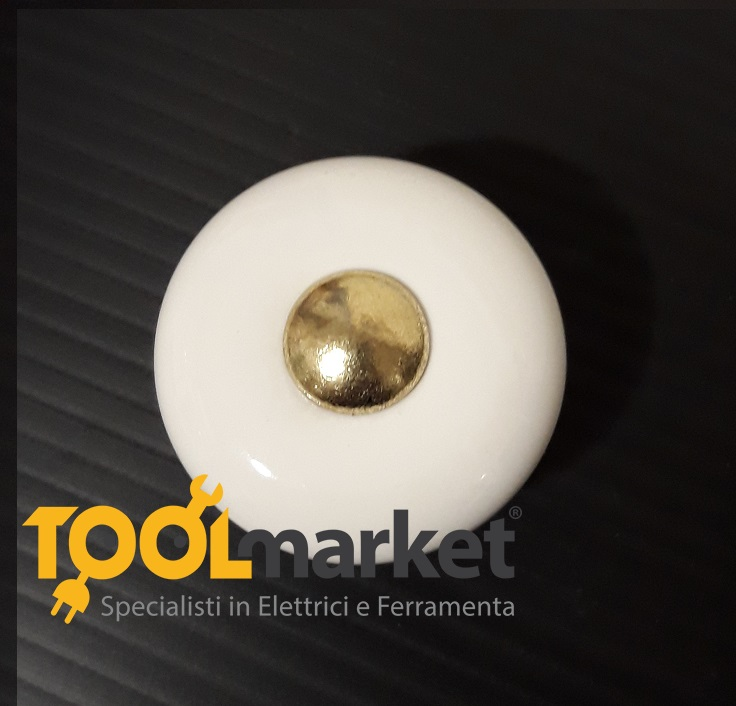 Pomolo Porcellana Tondo 25 mm cottali