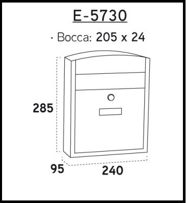 Cassetta postale acciaio INOX Compact E-5737