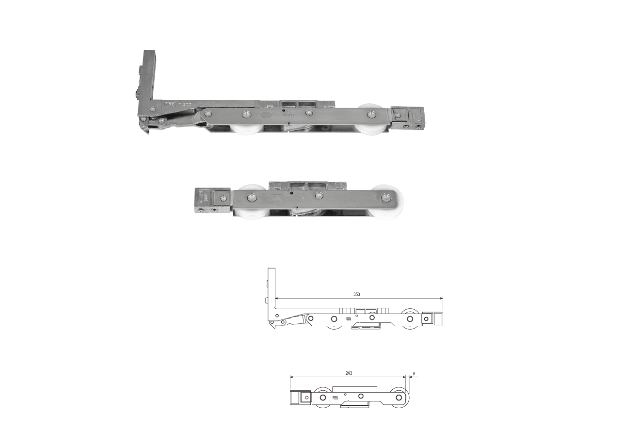 Kit carrelli per alzante g041040000 - AGB