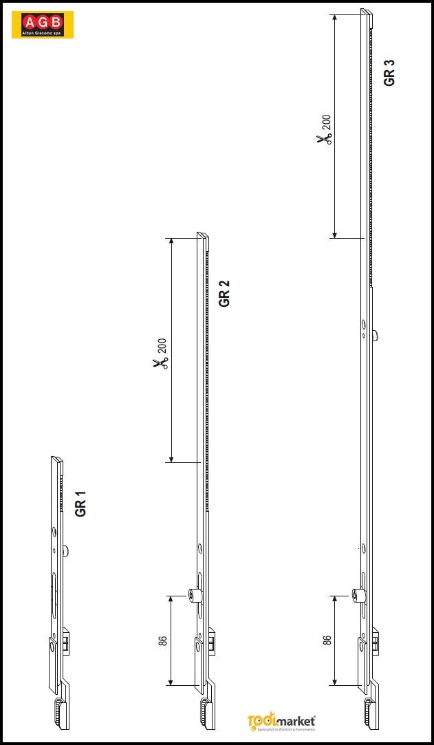 Prolunga per chiusure A400200001 - AGB