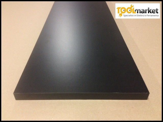 Mensola laminata 18mm nera