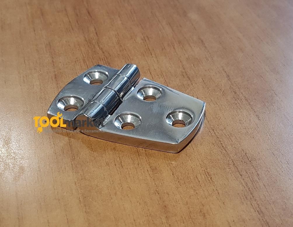 Cerniera Inox microfusione 57x38 Inox
