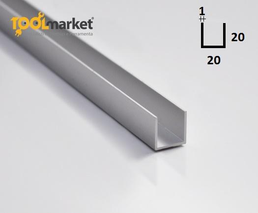 Profilo alluminio U 20x20