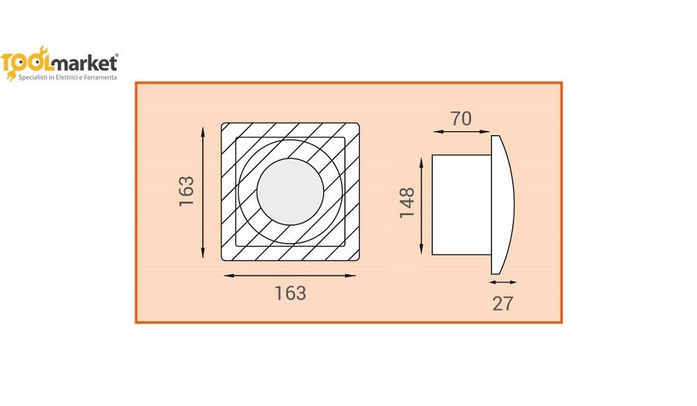 Aspiratore assiale da parete SERIE L 120/150 - LUX