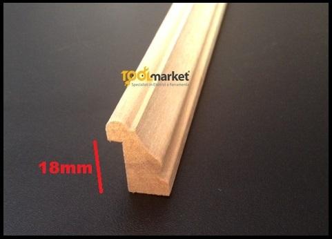 Fermavetro legno sagoma A18