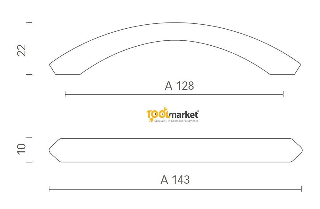 Maniglia per mobili in zama cromo art 3075 MITAL