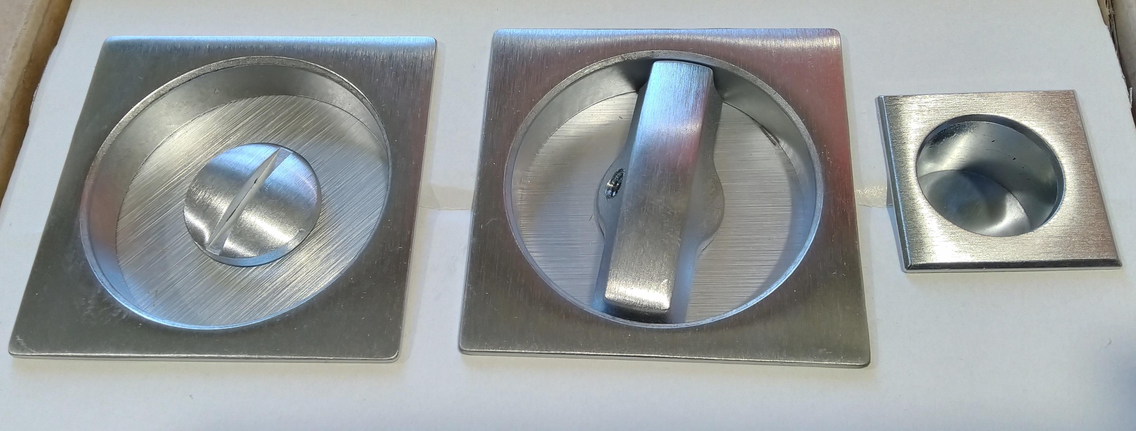 Kit maniglia quadra per porte scorrevoli NICCHIA - COMIT