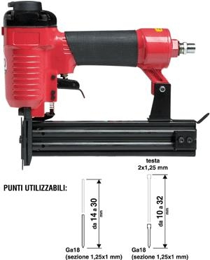 pistola chiodatrice pneumatica