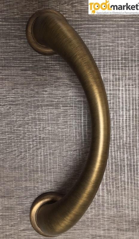 Maniglione modello Arco in bronzo yester con rosetta Frosio Bortolo