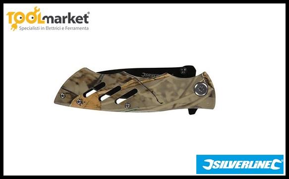 Coltellino mimetico pieghevole 195mm SILVERLINE