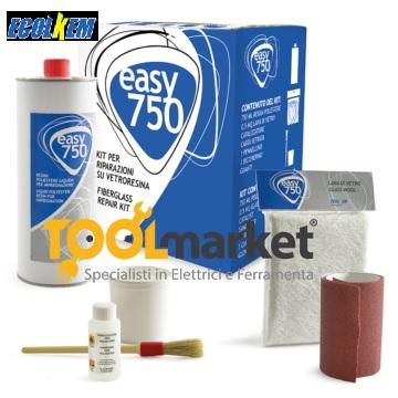 Kit vetroresina per riparazione easy 750