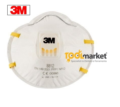 Mascherina FFP1 protettiva 8812 con valvola