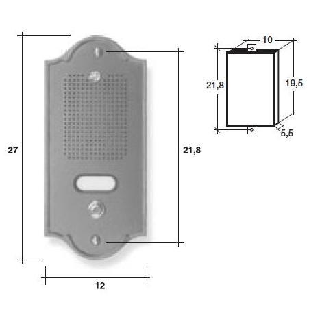 Pulsantiera citofonica ottone testa di moro 2 pulsanti PLMtm