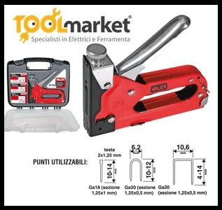 pistola graffatrice + chiodatrice manuale