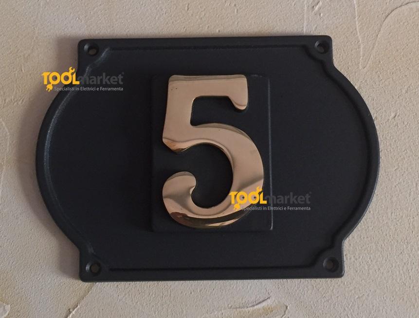 Numero civico Ghisa 1 cifre