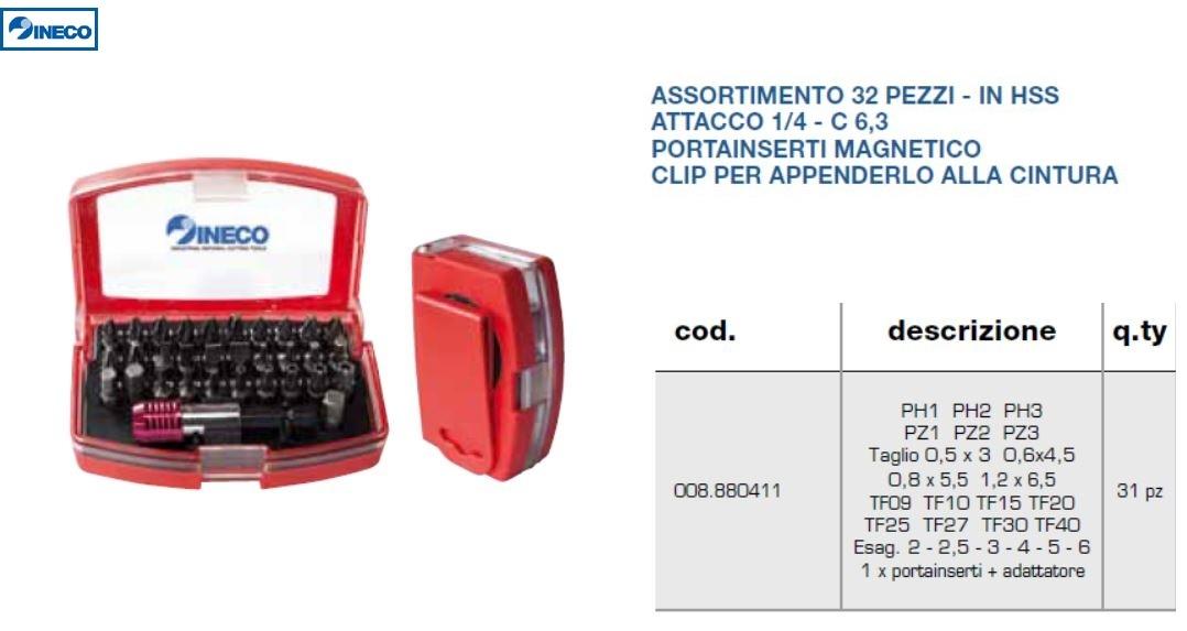 Set 31 inserti bit + alberino professionale - INECO