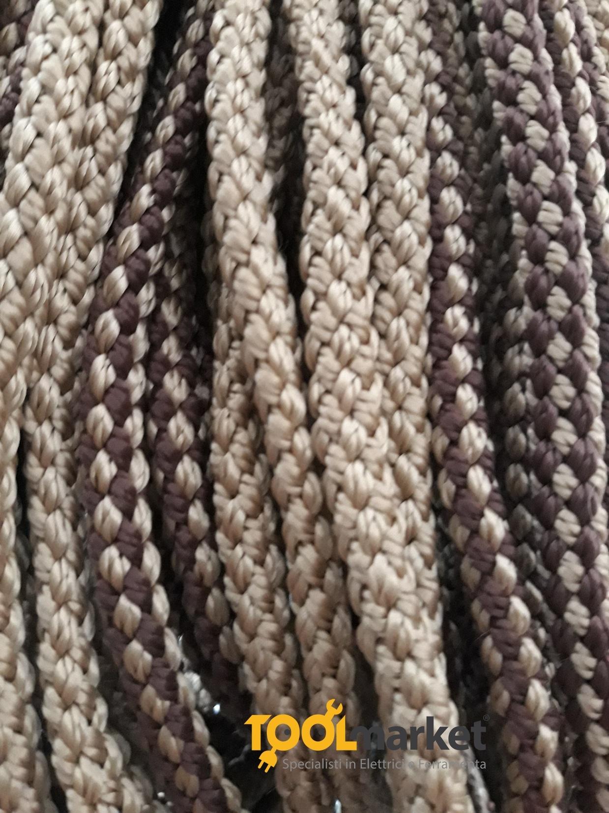 Tenda antimosche cordone ritorto String 120 x 230 marrone