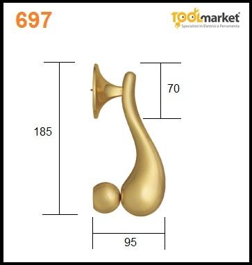 Battente 697 oro PVD