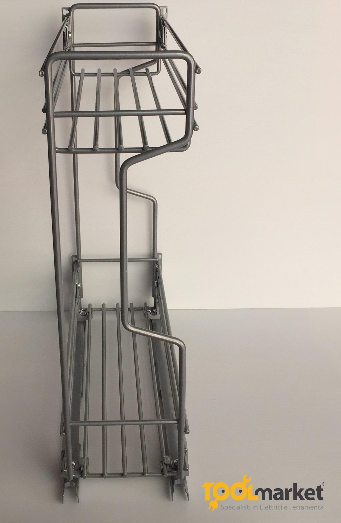 Cestello in filo di acciaio cm15