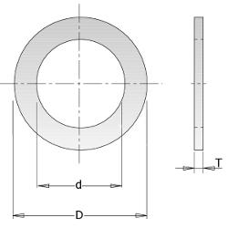 Anello riduzione per dischi vidia 30mm - 16mm