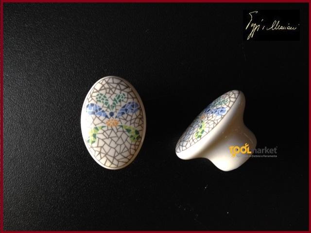 Pomolo porcellana bavaria Poggi&Mariani