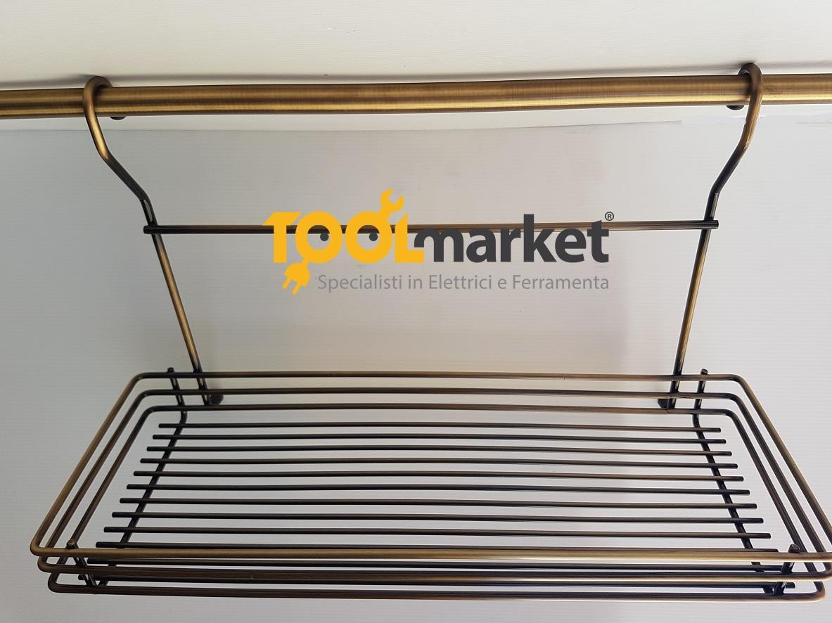Cestello grande per tubo bronzato