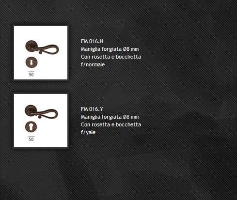 Maniglia FM016 ferro forgiato
