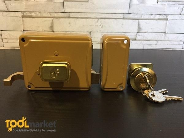 FF serratura meccanica verniciata per legno P22
