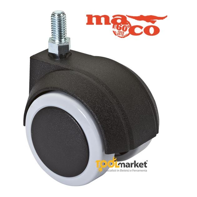 Ruota Maco 566 gomma perno M8x15