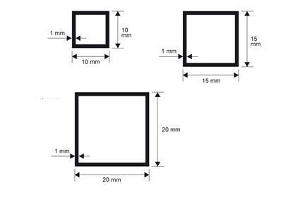 Profilo alluminio quadro Anodizzato argento