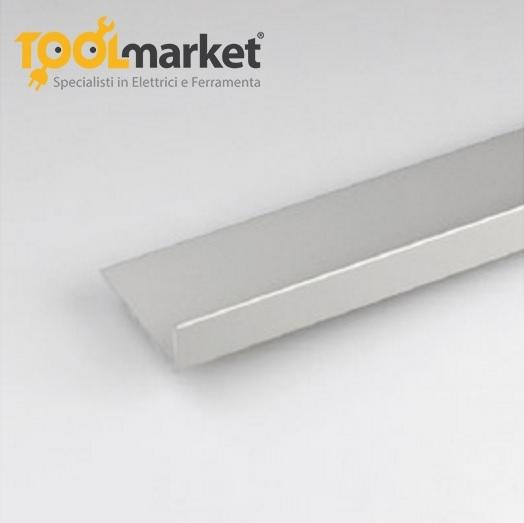 Profilo alluminio a L Anodizzato argento