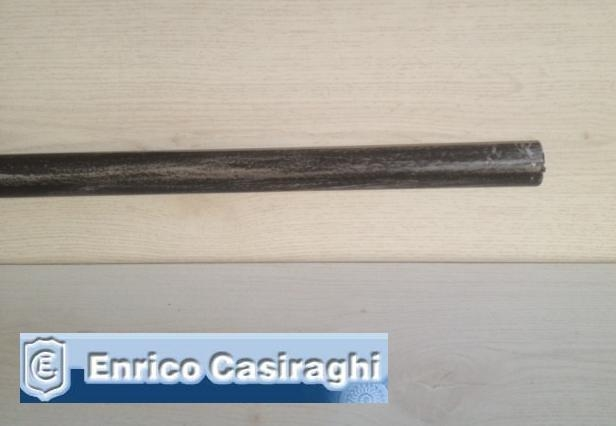 Bastone per tenda diametro 22mm Nero argento mt3
