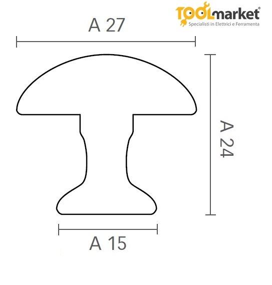 Pomello per mobili in zama ferro antico art.224A MITAL