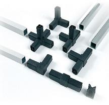 Profilo alluminio tubo quadro 20x20x1,3 mt2