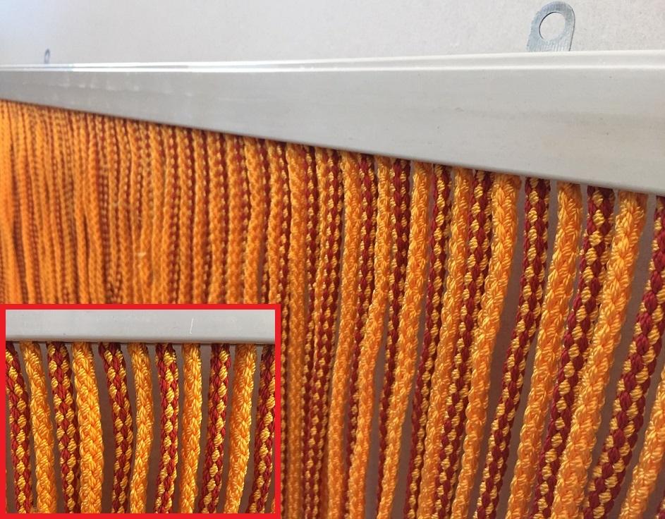 Tenda antimosche cordone ritorto 120 x 230 arancione-oro