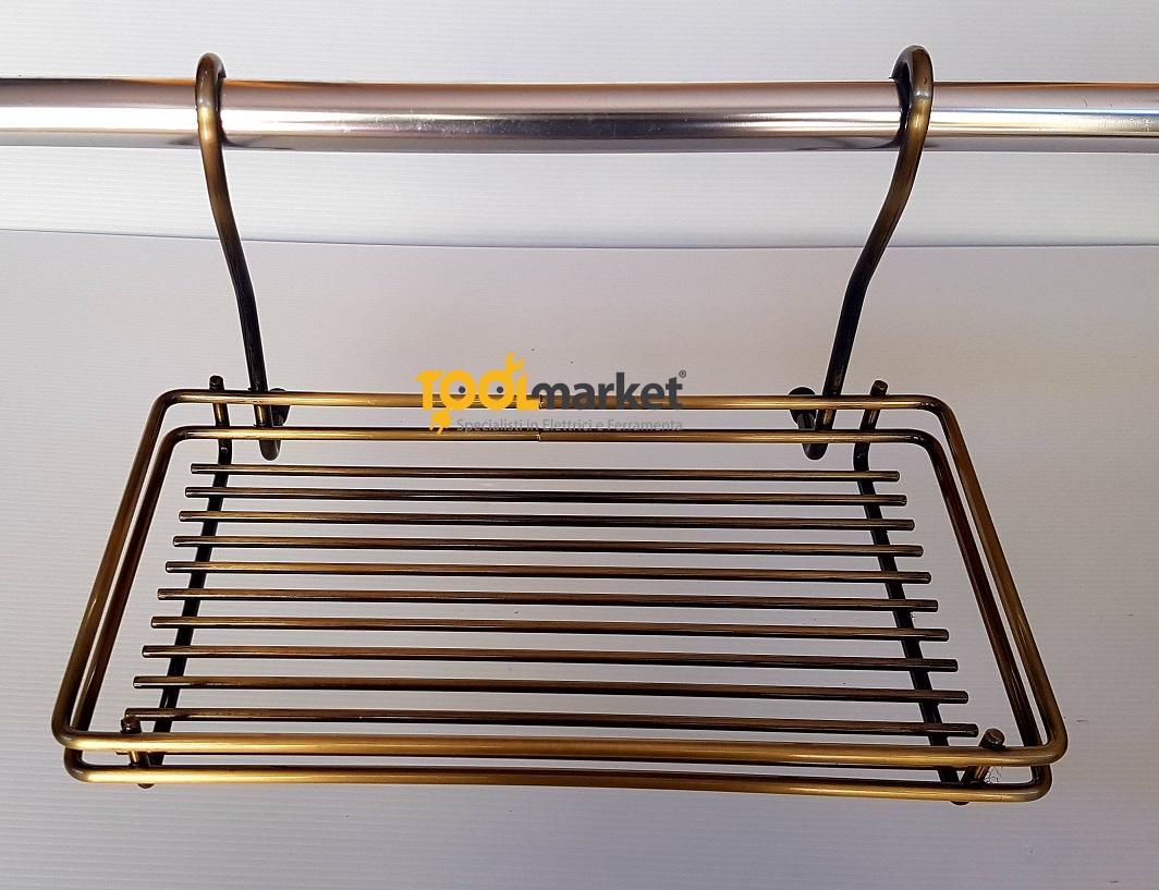 Cestello piccolo per tubo bronzato