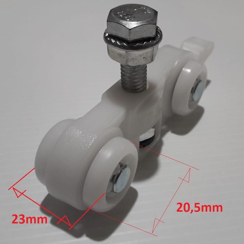 Set accessori ViTel 80kg per porte scorrevoli compatibile Scrigno