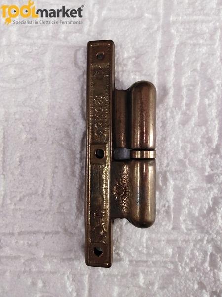 Cerniera pomelles in ottone bronzato ds-sx 120x60