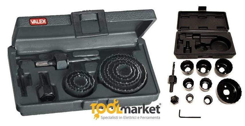 Seghe a tazza set 11 pezzi da 19mm a 64mm - VALEX