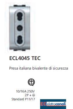 Presa bivalente LIFE TEC ECL4045TEC