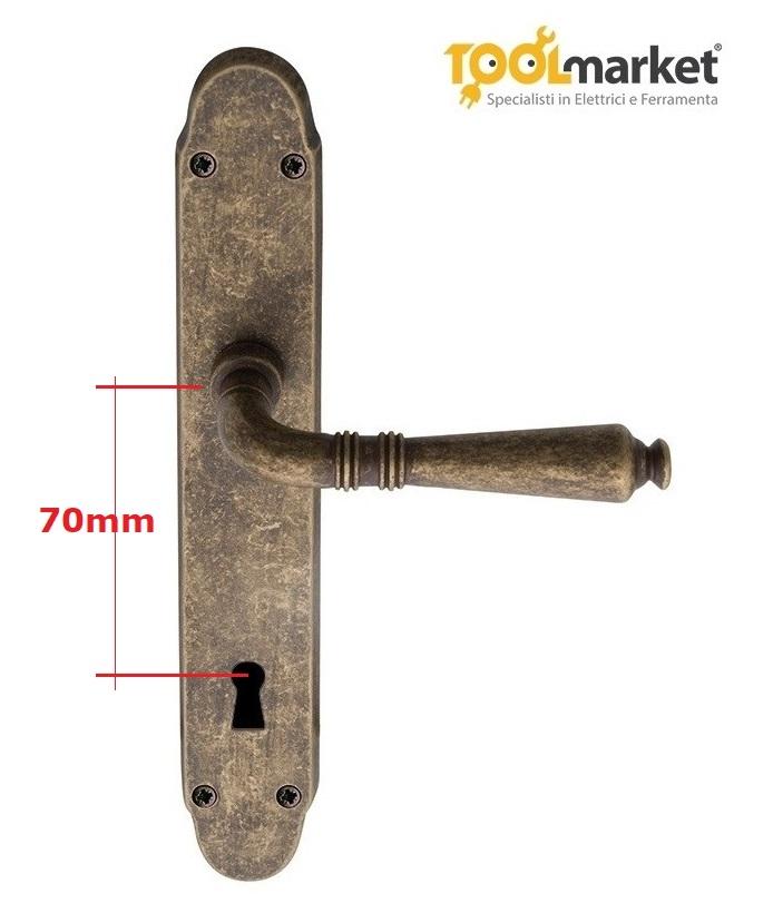 Maniglia con placca anticata modello GINEVRA - REGUITTI