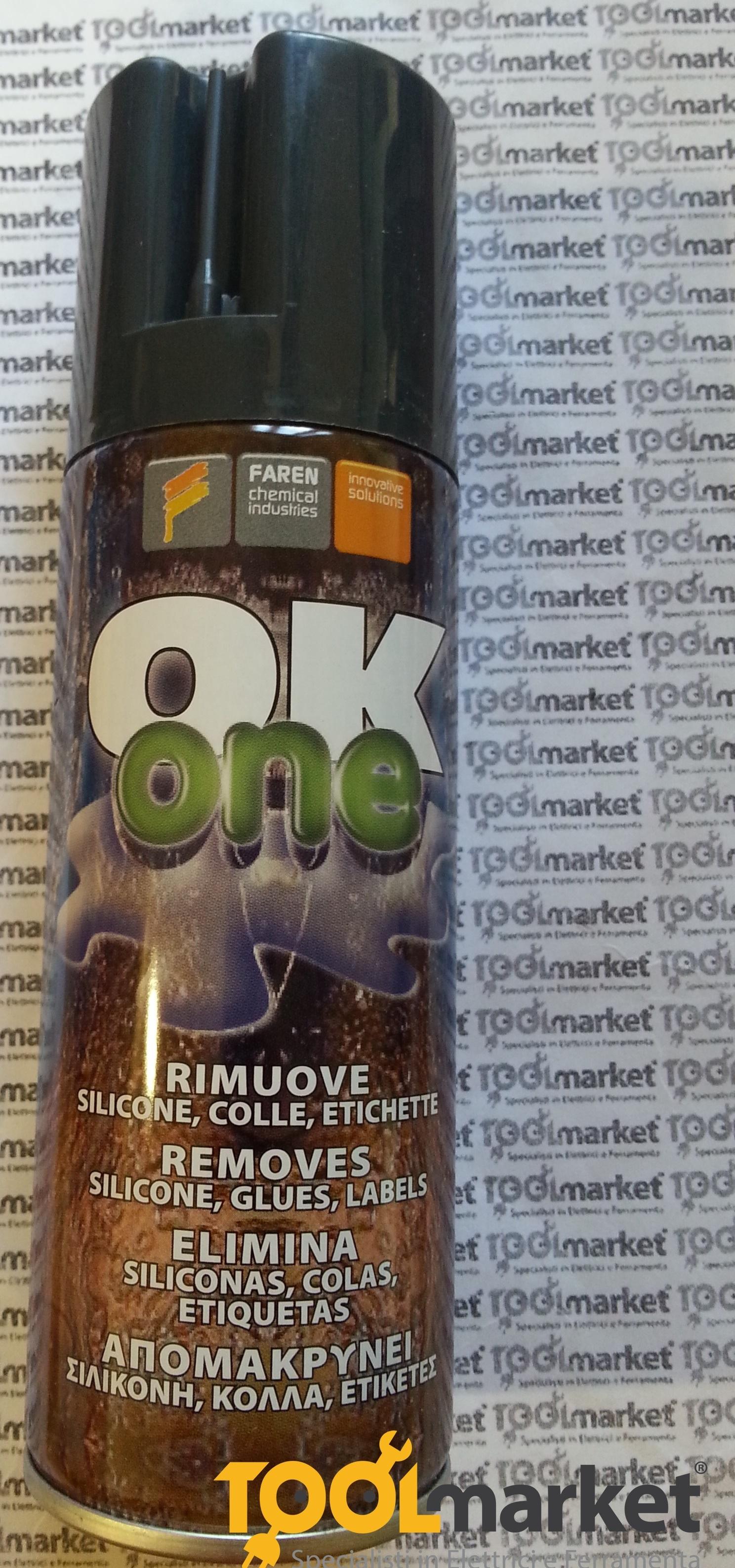 Sciogli silicone Ok One spray Faren 200 ml